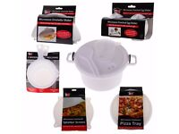NEW 6PC Microwave Starter Set Including Pizza Tray, Omelette Maker, Pressure Cooker