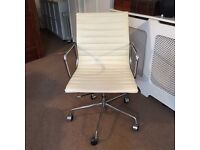 Cream leather EAMES office chair