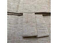"BRAND NEW, TAB TOP, LINEN LOOK CURTAINS, 66"" x 54"" BARGAIN £8.50"