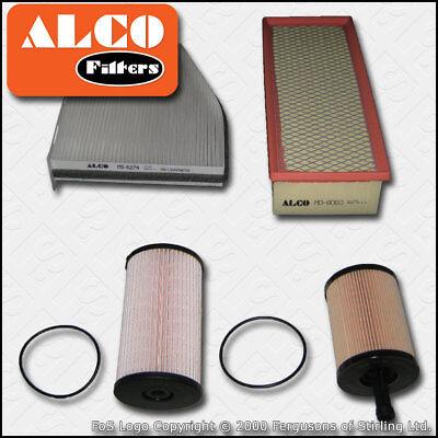 SERVICE KIT VW PASSAT (3C) 2.0 TDI 16V ALCO OIL AIR FUEL CABIN FILTER (2005-2010