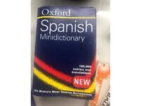 Spanish mini dictionary