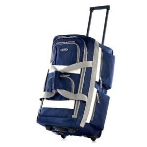 NEW Olympia 29-Inch 8 Pocket Rolling Duffel Bag, Navy, One Size