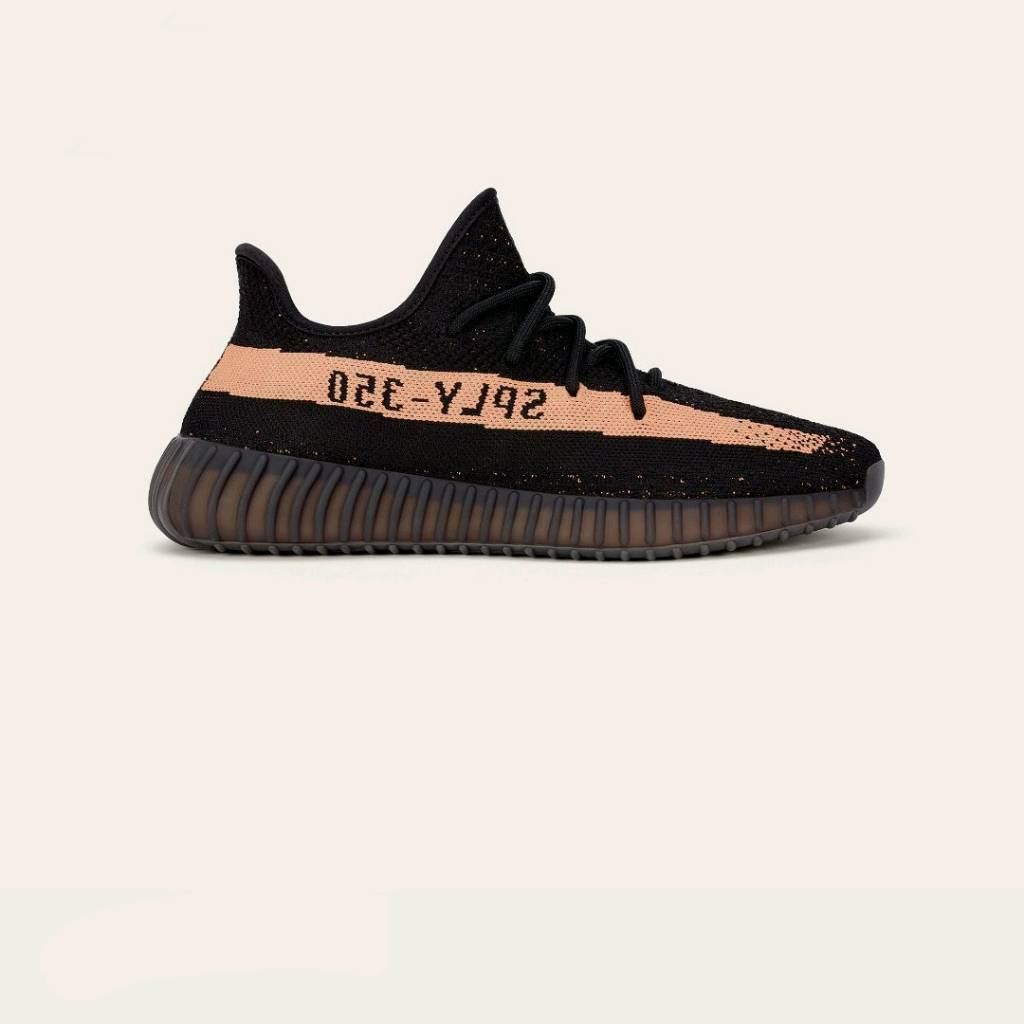 8efe45d47c860 Adidas Originals Yeezy Boost 350 V2 Black Copper UK 10.5 US 11 BY1605 Kanye  West