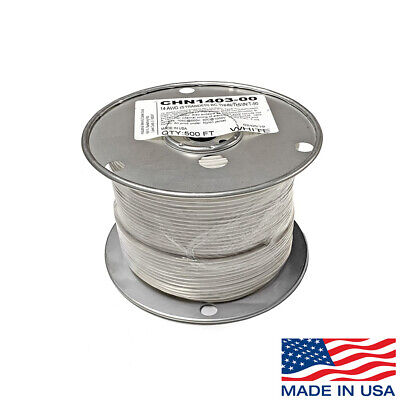 14 Awg Copper Stranded Wire 500 Ft Roll Thhnthwn 600 Volt Usa Made Ul - White