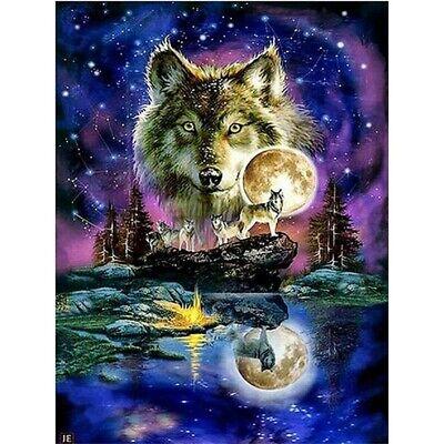Night Wolf Moonlight Full Drill 5D DIY Diamond Painting Kits Art Embroidery DIY