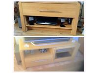 NEXT Set Coffee Table + Tv Stand Oak Veneer - LOCAL FREE DELIVERY