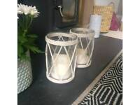 2x candle holders / lanterns / hurricane lamps