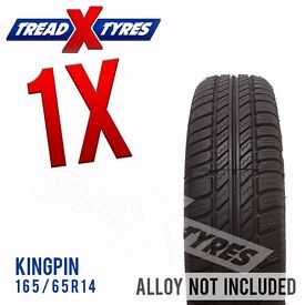 1 x New 165/65R14 Kingpin Tyre - 165 65 14 - Fitting Available