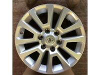 Toyota Land cruiser 18 inch set of genuine alloy wheels