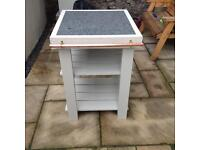 Butchers block with granite surface