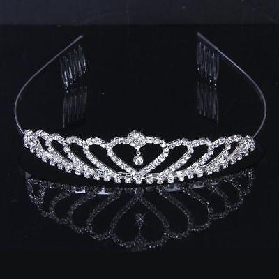 Wedding Tiara Princess Headband Rhinestone CZ - Heart Tiaras