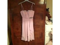 3/4 length pink prom dress/bridesmaid