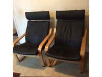 IKEA Leather Poang Chairs