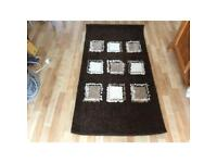 Shaggy chocolate rug, used but in good clean condition.