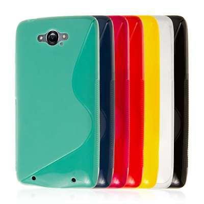 for Motorola DROID TURBO S-Shape Soft Flexible TPU Gel Skin Case Cover Protector