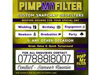 Personalised Snapchat Filters! CHEAP