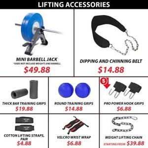 Lifting Accessories Barbell Jack Dip Dipping Chinning Belt Chain Weight Strap Wrist Wrap Knee Thick Grip Fat Ball Power