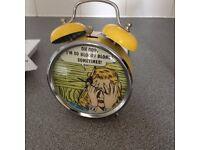 retro windup alarm clock 1970's style