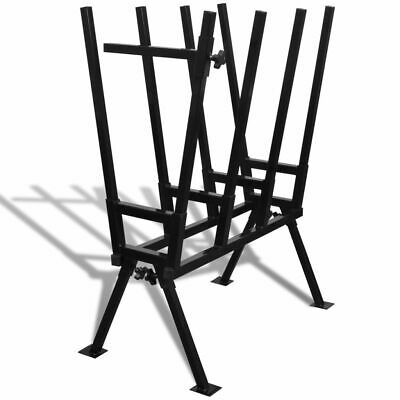 Black Powder-Coated Saw Horse for Woodworking