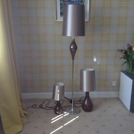 Next mosaic crackle design Floor lamp and table lamps