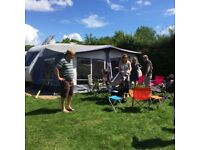 Caravan awning by StarCamp - Cameo Blue size 14 (975 – 1000cm)