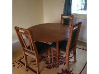 table with three chairs