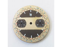 LIP Vintage Chronograph Swiss Watch Dial for Valjoux 7733 - Spare Part - Surfboard Dial