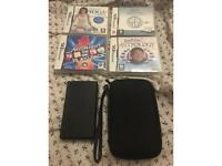 Nintendo DS Lite with case and games