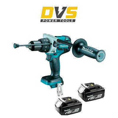 Makita DHP481Z 18v LXT Brushless Combi Drill with 2 x 5.0Ah Batteries...