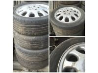 "Mercedes 195-50-15"" Alloy Wheels and Tyres Set of Four"