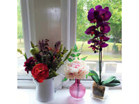 Set of 3 Beautiful Artificial Flowers - Excellent Quality