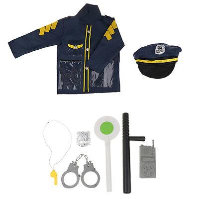 8 Stücke Polizei Kostüm Spielzeug Kinder Rolle Spiel - Polizei Kostüm Kit