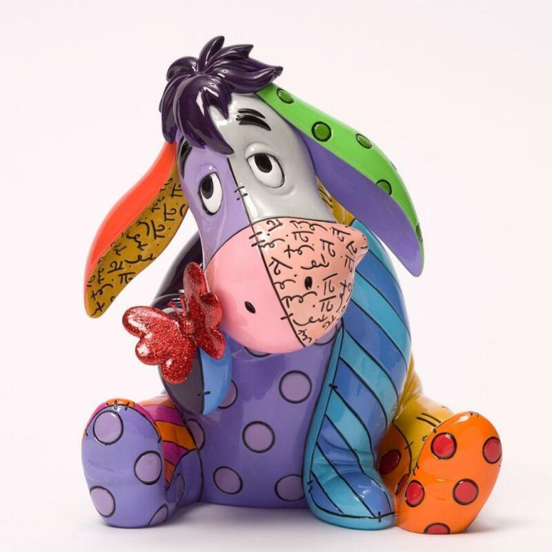 "Eeyore Large Size Colorful Disney Britto Enesco #4033895 (6.38"" Tall)"
