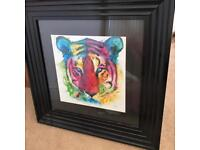 Murciano Tiger Print painted frame