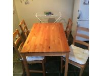 Kitchen table and 4 chairs - Good price