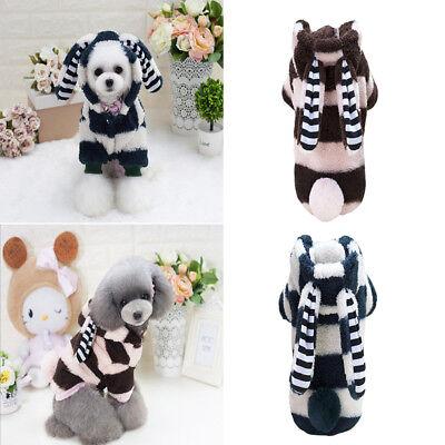 Dog Warm Sweater Jumpsuit Stuffed Costume Puppy Jacket Coat (Pet-cosplay)