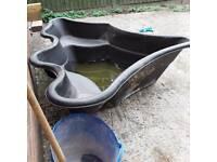Solid plastic black pond