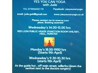 New yoga class suitable for all
