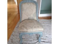 Funky reupholstered desk chair , suitable for bedroom ,sitting room or girlie office !