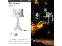 Large transparent designer table lamp