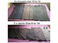 Ladies skirts and trousers