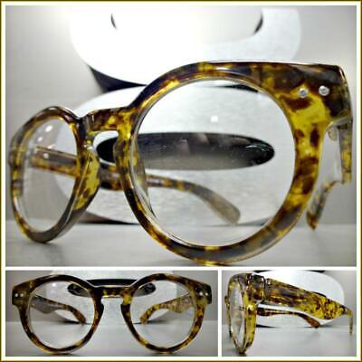 Mens 50s Style (Mens CLASSIC 50s RETRO Style Clear Lens EYE GLASSES Small Tortoise Fashion)