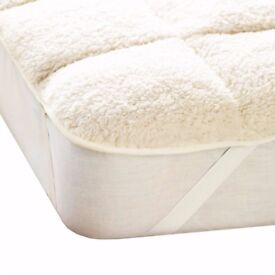 double,Luxury Teddy Mattress Topper Enhancer,cover