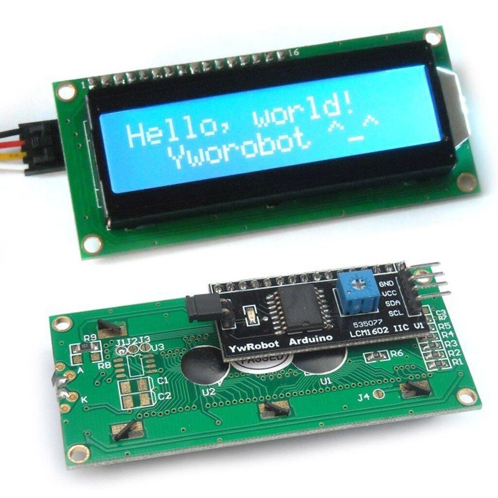 Arduino iic i c twi serial blue lcd module