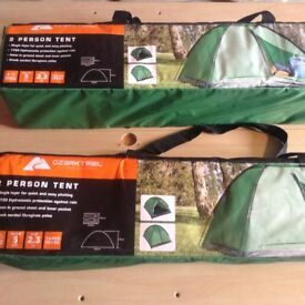 TWO FOR SALE, PRICE IS FOR ONE - OZARK TRAIL TWO PERSON TENT - MUST GO SOON!