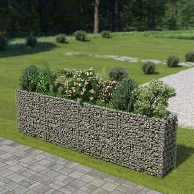vidaXL Gabion Raised Bed Galvanised Steel 360x50x100cm Stone Basket Raised Bed