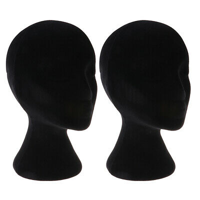 2pcs Female Styrofoam Mannequin Manikin Head Model Wigs Glasses Display Stand