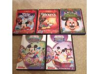 5 x Mickey Mouse DVDs