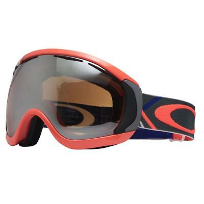 b11f516d11 Oakley 57-781 CANOPY Freedom Plaid Neon Fire Black Iridium Mens Snow Ski  Goggles