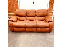 Lovely Sofa 3 Seater in Nubuck Fabric NEED TO BE GONE BY Sunday( delivery free )